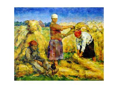 The Harvest, 1925-Vasily Rozhdestvensky-Giclee Print