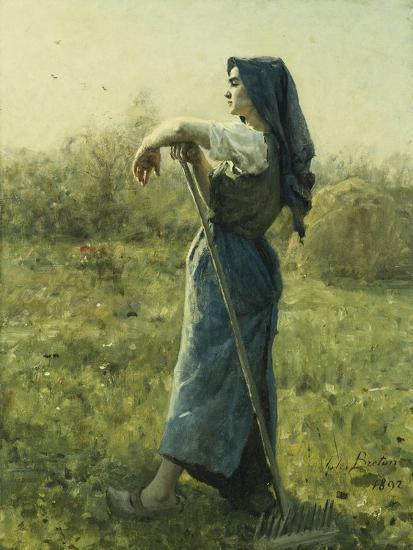 The Harvester-Jules Breton-Giclee Print