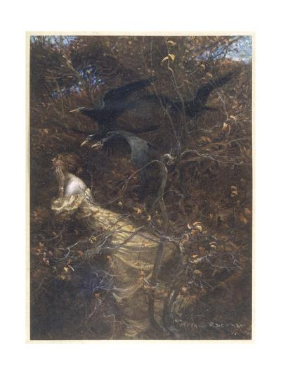 The Haunted Wood C1903-Arthur Rackham-Giclee Print