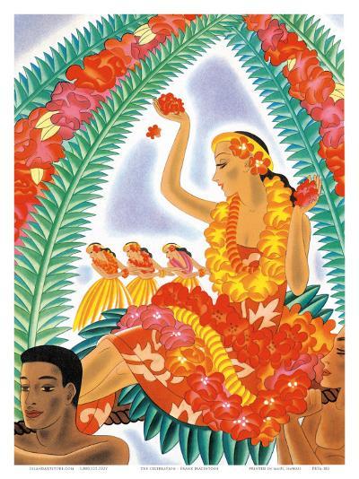 The Hawaiian Celebration-Frank MacIntosh-Art Print