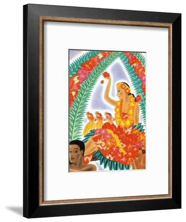 The Hawaiian Celebration-Frank MacIntosh-Framed Art Print