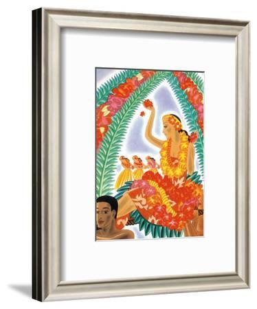 The Hawaiian Celebration-Frank MacIntosh-Framed Art Print