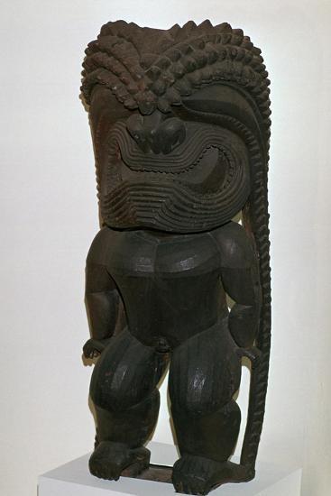 The Hawaiian war-god Kukailimoku from Polynesia, 19th century-Unknown-Giclee Print
