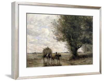 The Haycart, c. 1860-Jean-Baptiste-Camille Corot-Framed Giclee Print