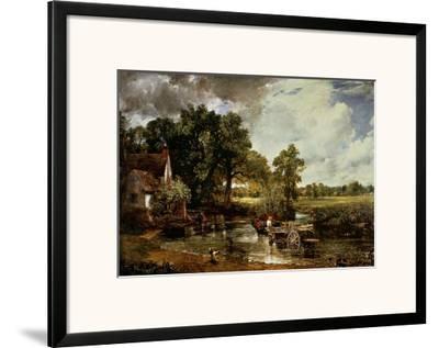 The Haywain, 1819-John Constable-Framed Art Print