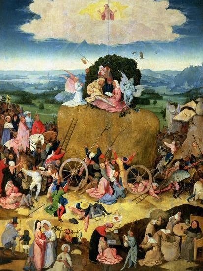 The Haywain: Central Panel of the Triptych, circa 1500-Hieronymus Bosch-Giclee Print