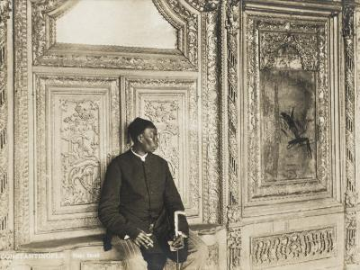 The Head Eunuch of the Harem at the Topkapi Palace, Constantinople, Turkey--Photographic Print