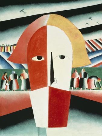 The Head of a Peasant, 1928-30-Kasimir Malevich-Giclee Print