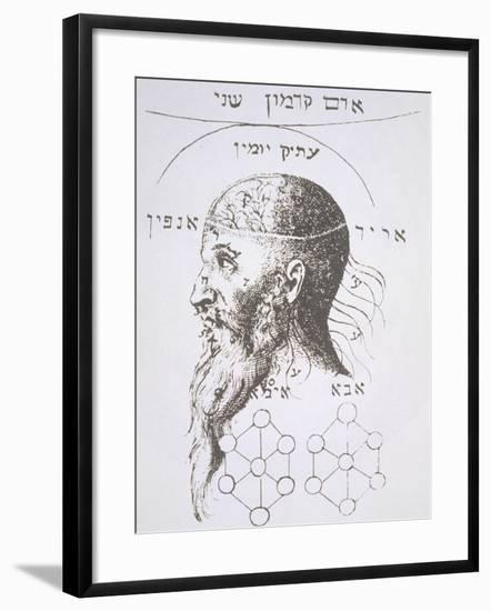 "The Head of Adam Kadmon, Copy of an Illustration from ""Kabbala Denudata""--Framed Giclee Print"