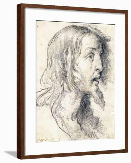 The Head of Christ in Profile to the Right-Bernardo Strozzi-Framed Giclee Print