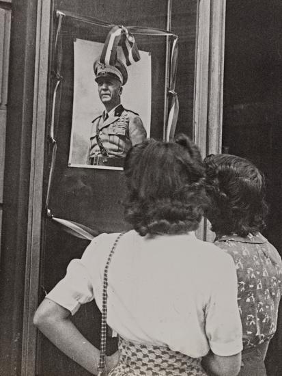 The Head of Government Pietro Badoglio in a Photographic Portrait-Luigi Leoni-Photographic Print