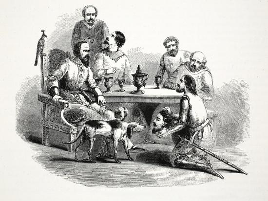 The Head of Llewelyn Brought to Edward at Conway Castle, Pub. 19th Century--Giclee Print