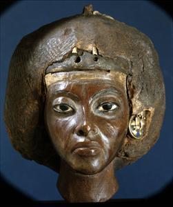 The Head of Queen Tiye, Wife of Amenophis III and Mother of Akhenaten