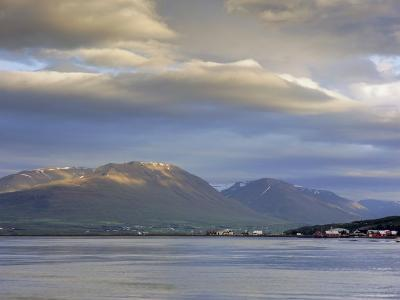 The Head of the Fjord from the Jetty in Akureyri Harbour on a Summer Evening, Iceland-Pearl Bucknell-Photographic Print