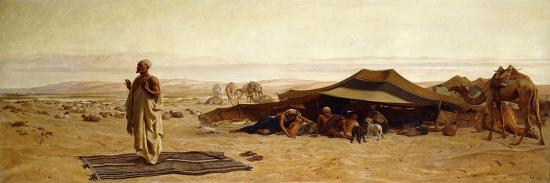 The Head of the House at Prayer-Frederick Goodall-Premium Giclee Print