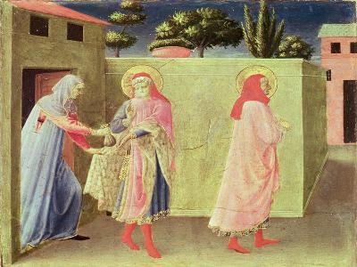 The Healing of Palladia by Ss. Cosmas and Damian, Predella from the Annalena Altarpiece, 1434-Fra Angelico-Giclee Print