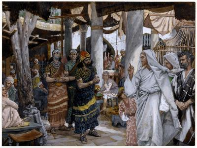 The Healing of the Ruler's Son, Illustration for 'The Life of Christ', C.1884-96-James Tissot-Giclee Print