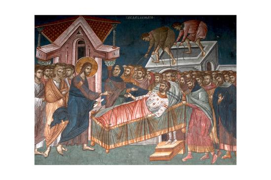 The Healing the Paralytic at Capernaum, Ca 1350--Giclee Print