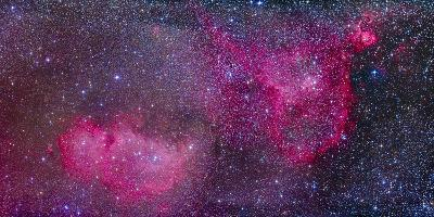 The Heart and Soul Nebulae in the Constellation Cassiopeia-Stocktrek Images-Photographic Print