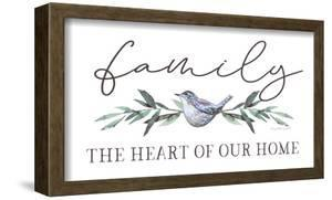The Heart of Our Home 9 x 15 Framed Canvas