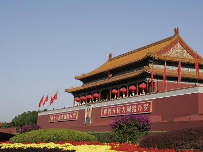 The Heavenly Gate to the Forbidden City, Tiananmen Square, Beijing (Peking), China, Asia-Angelo Cavalli-Photographic Print