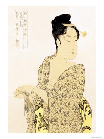 The Hedonist-Kitagawa Utamaro-Art Print
