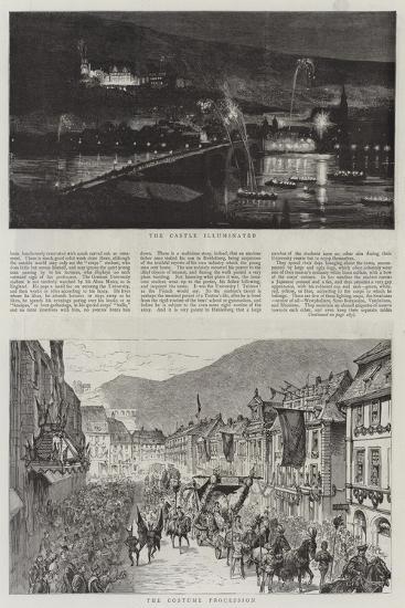 The Heidelberg Festivities--Giclee Print