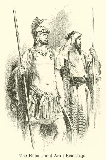 The Helmet and Arab Head-Cap--Giclee Print