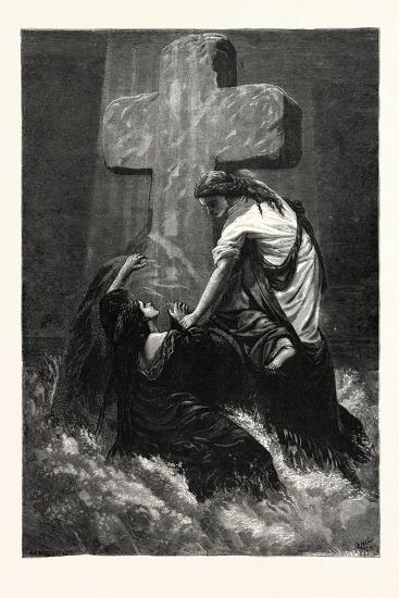 The Helping Hand. Religious Print--Giclee Print