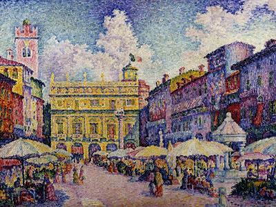 The Herb Market, Verona-Paul Signac-Giclee Print