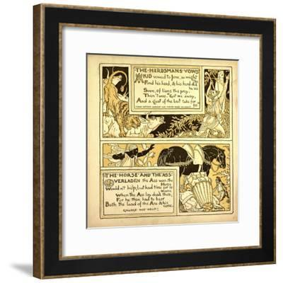 The Herdsman's Vows the Horse and the Ass--Framed Giclee Print
