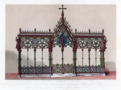 The Hereford Screen, 19th Century-John Burley Waring-Giclee Print