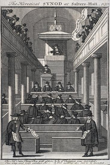 The Heretical Synod at Salters' Hall Chapel, London, 1720--Giclee Print