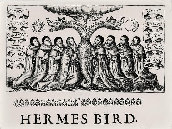 The Hermes Bird, from 'Theatrum Chemicum', 1652--Giclee Print