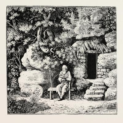 The Hermit at His Morning Devotions. from Goldsmith and Parnell's Poems--Giclee Print