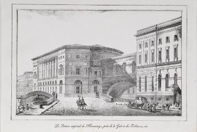 The Hermitage Theatre in Saint Petersburg (Series Views of Saint Petersbur), 1820S-Alexander Pluchart-Giclee Print
