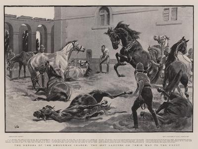 The Heroes of the Omdurman Charge, the 21st Lancers on their Way to the Front-John Charlton-Giclee Print