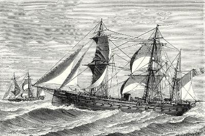 The Heroine Armored Frigate Launched in 1864--Giclee Print