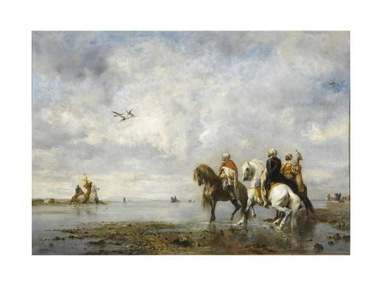 The Heron Hunt-Eugène Fromentin-Giclee Print
