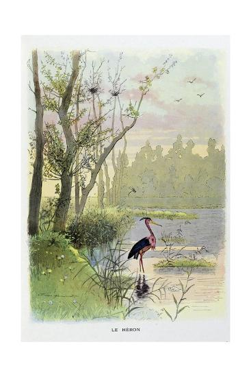 The Heron, La Fontaine's Fables-Firmin Bouisset-Giclee Print