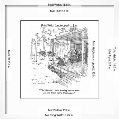 The Hewletts Have Flaming Crown Roast Au Vin Blanc Every Wednesday New Yorker Cartoon Premium Giclee Print George Booth Art Com Crown roast of lamb is fantastic recipe for a holiday or special dinner. art com
