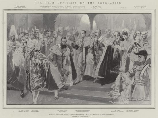 The High Officials of the Coronation-Thomas Walter Wilson-Giclee Print