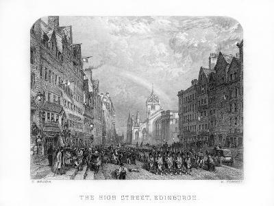 The High Street, Edinburgh, 1870-W Forrest-Giclee Print