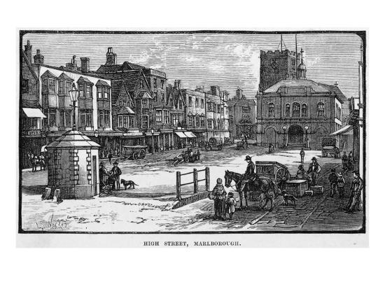 The High Street, Marlborough, Wiltshire--Giclee Print