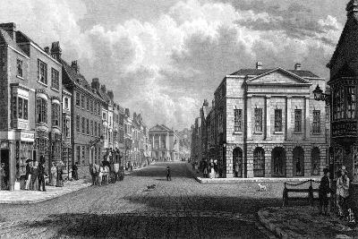 The High Street, Newport, Isle of Wight, 1844-Philip Brannon-Giclee Print