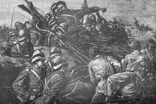 'The Highland Brigade Storming The Trenches at Tel-El-Kebir', c1882-Unknown-Giclee Print