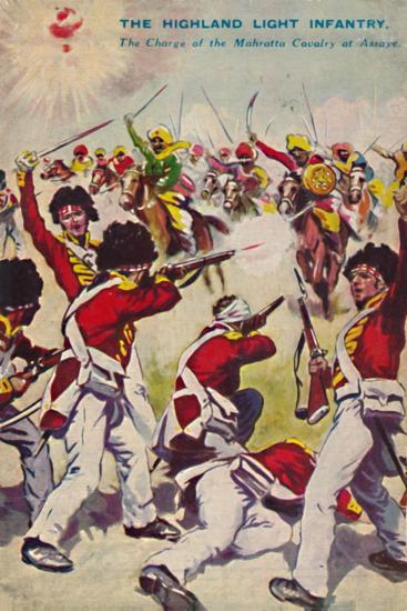 'The Highland Light Infantry. The Charge of the Mahratta Cavalry at Assaye', 1803, (1939)-Unknown-Giclee Print