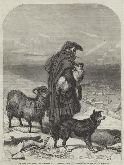 The Highland Shepherd-Richard Ansdell-Giclee Print