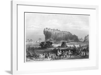 The Hill Fortress of Gwalior, India, C1860--Framed Giclee Print