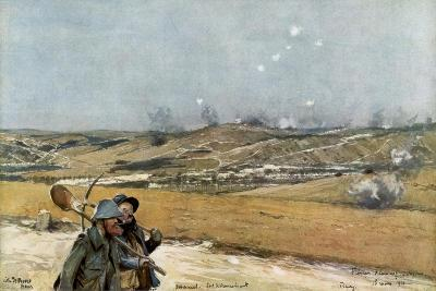The Hills and Fort of Douaumont, Verdun, France, 18 March 1916--Giclee Print
